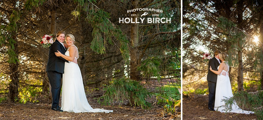 wedding pictures in evergreen forest
