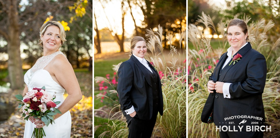 individual photos of brides in gorgeous light