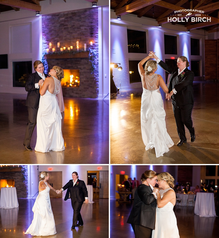 brides' first dance as wife and wife