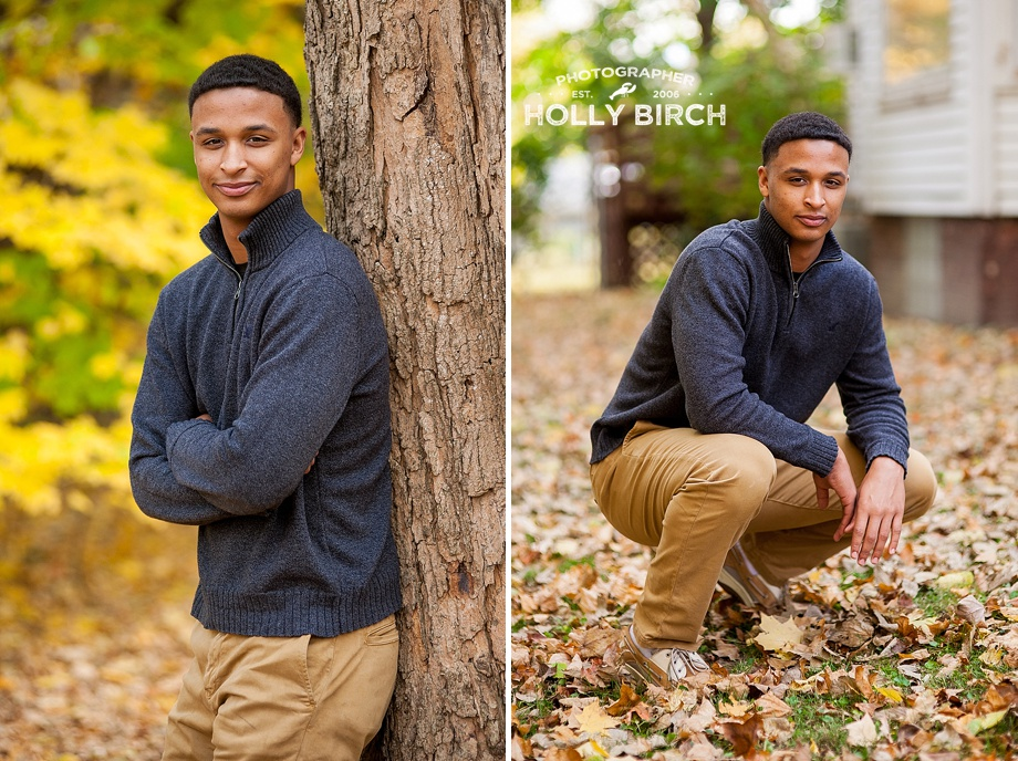 high school boy senior portraits