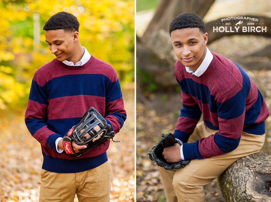 Champaign Central high school baseball player
