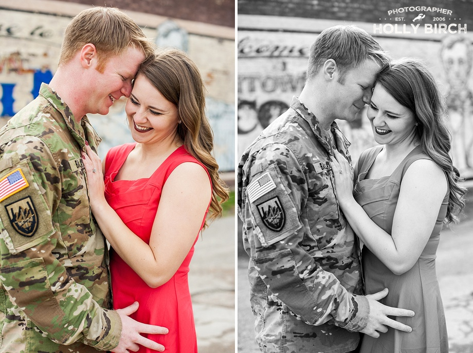 camouflage engagement photos