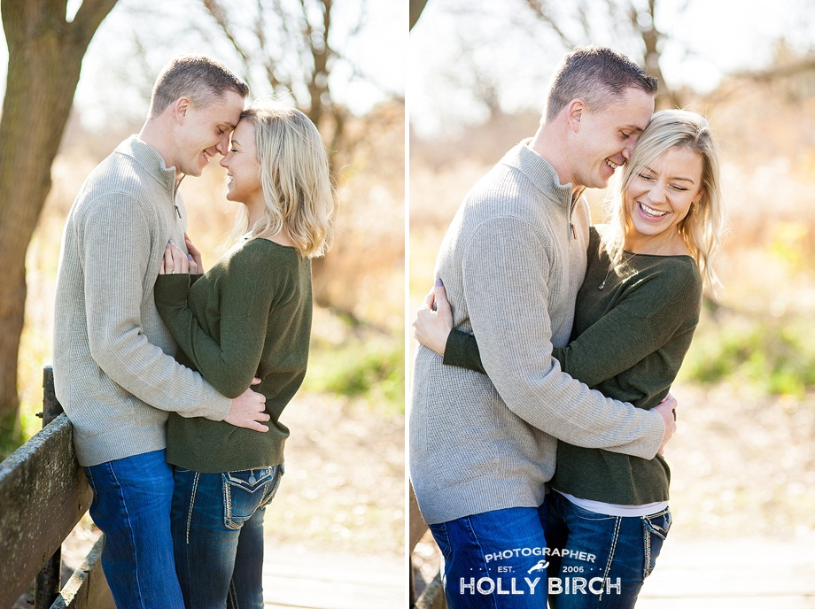 he makes her laugh adorable engagement poses