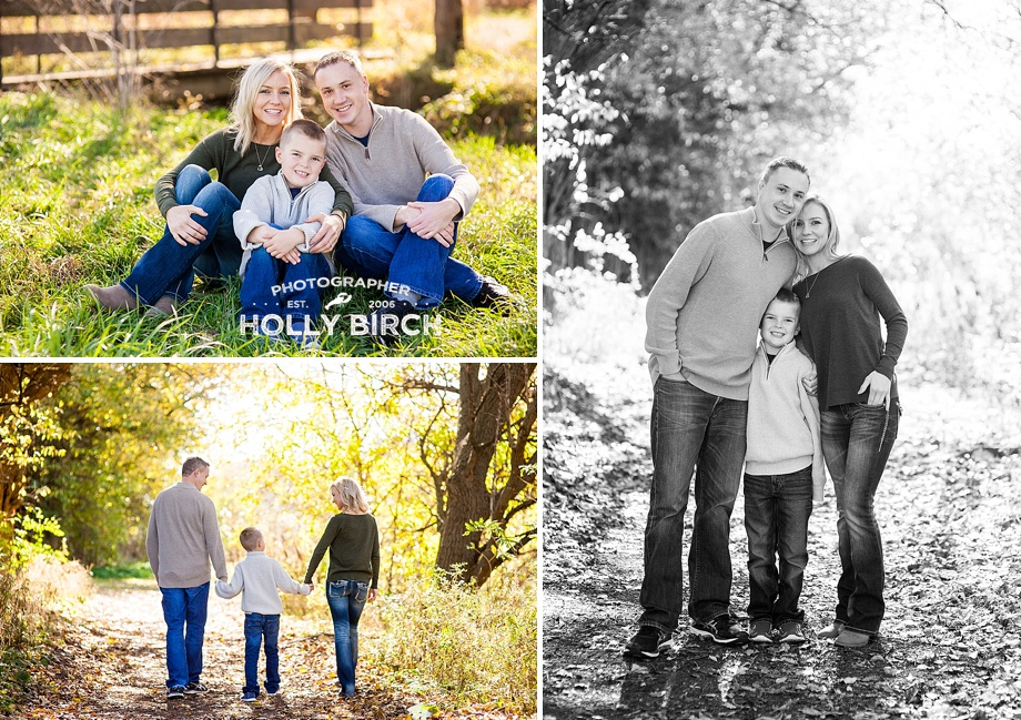 fall family and engagement session