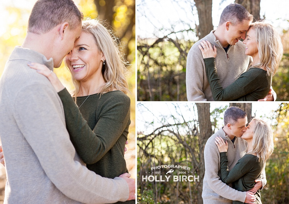 sweet fall engagement photos
