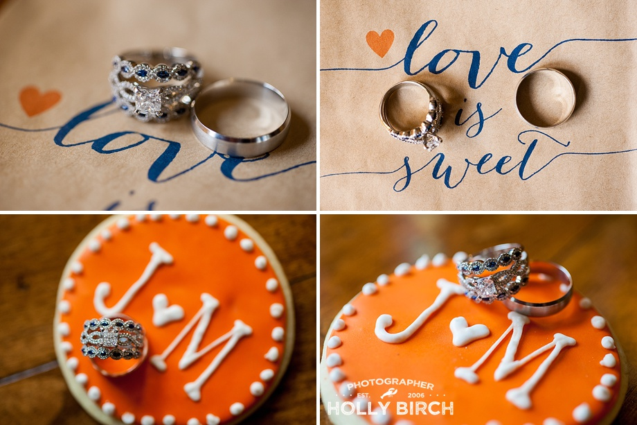 love is sweet ring shots with orange cookie