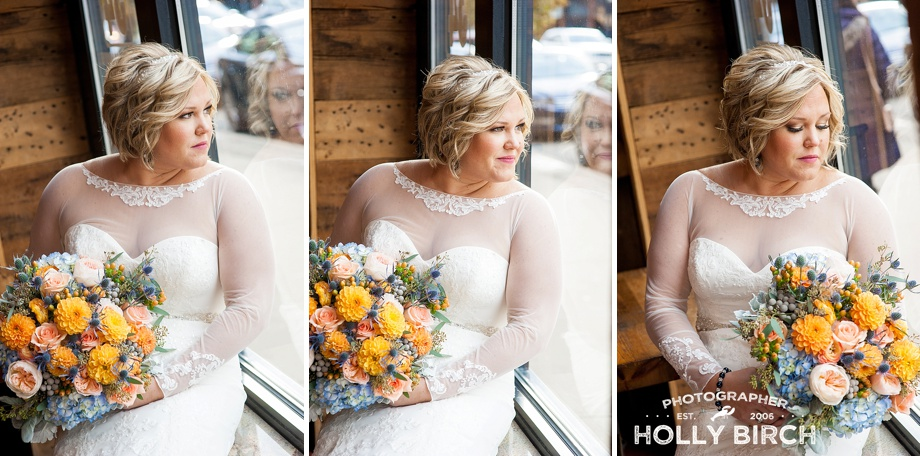 indoor bridal photos with beautiful window light