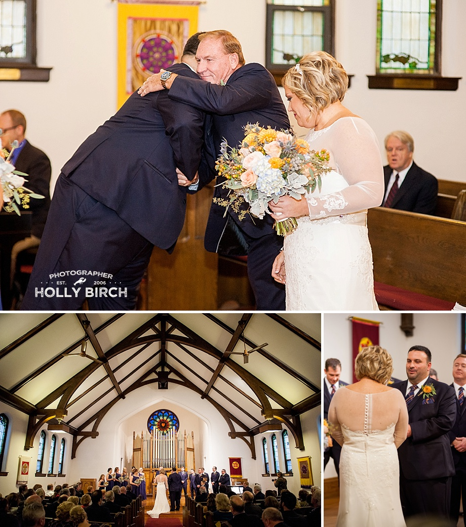 Urbana church wedding ceremony