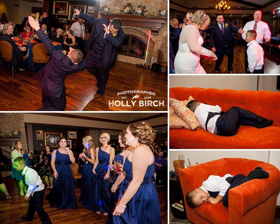 wedding guests dancing and dabbing