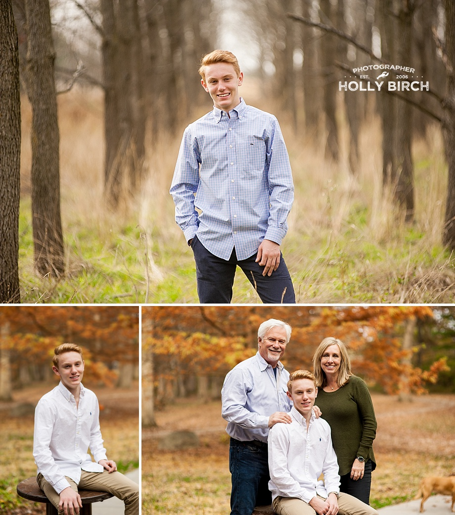 high school senior session in the woods