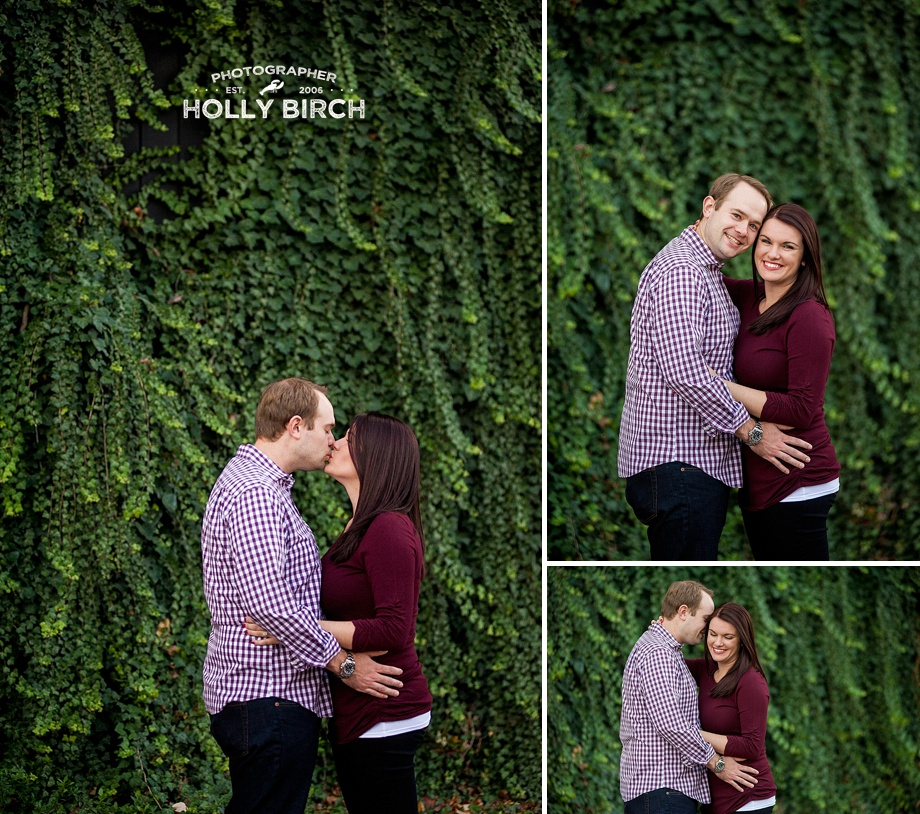 ivy wall engagement couple photo