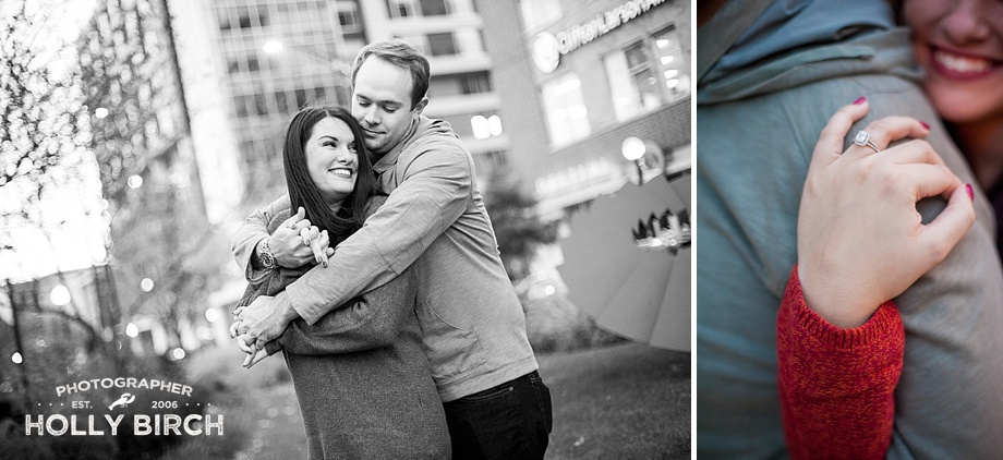 cityscape engagement photos