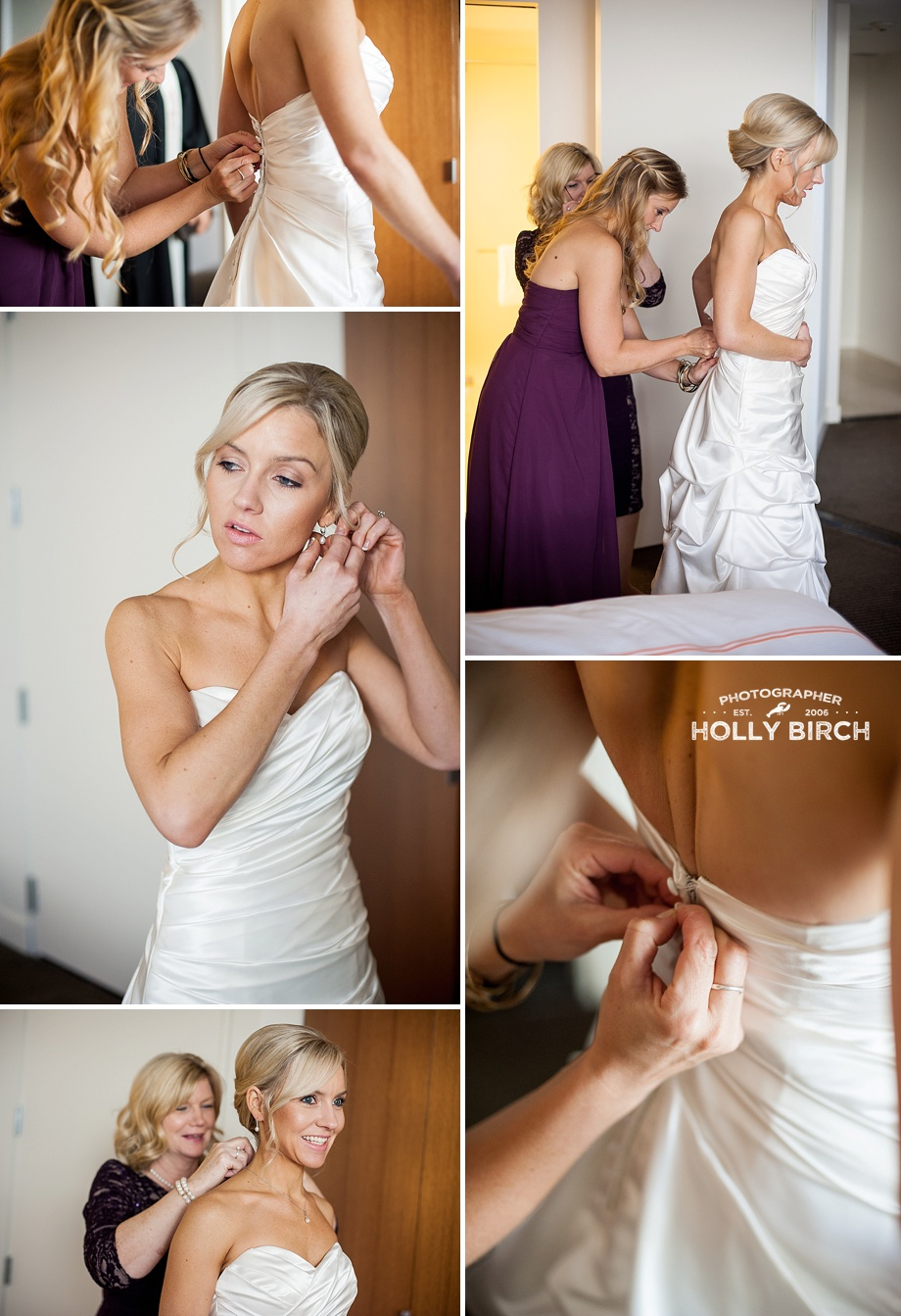 bride getting ready at Hotel Arista