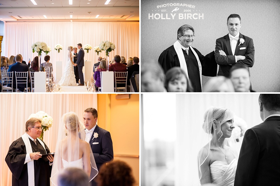 Hotel Arista Naperville wedding ceremony