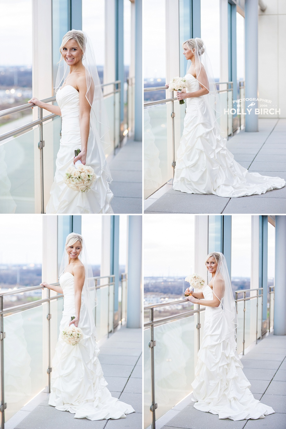 clean magazine style bridal portraits