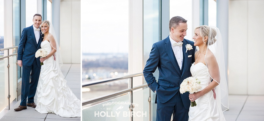 modern clean bride and groom portraits