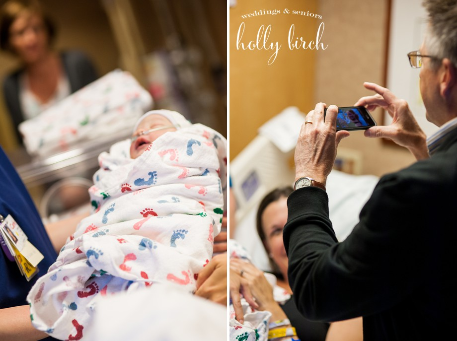 Carle hospital birth photographer