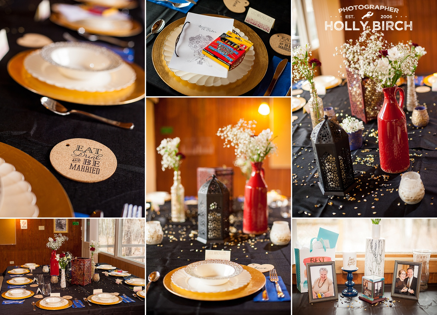 Isaak Walton cabin wedding reception