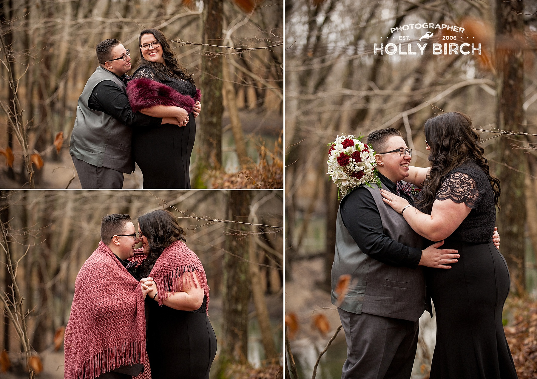 chilly winter wedding photos