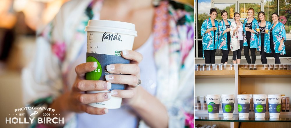 starbucks coffee at the bridal salon