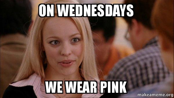 on wednesdays we wear pink and blog