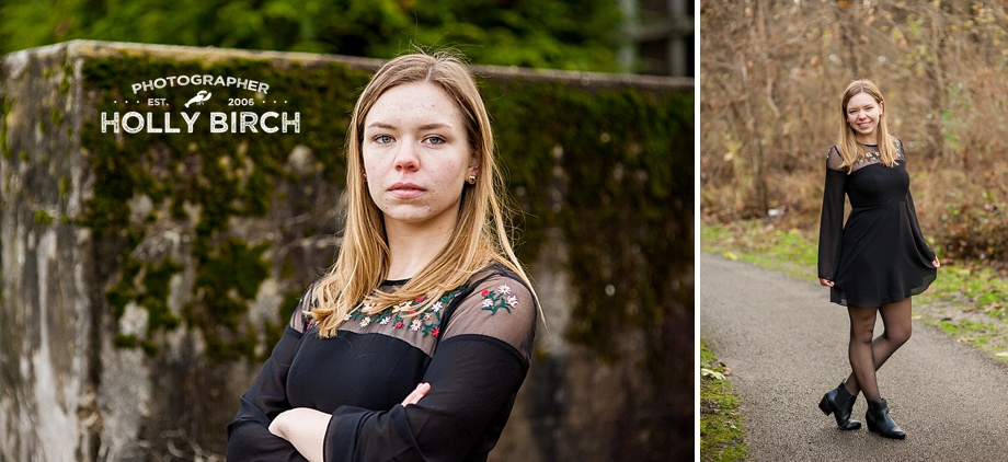 mossy wall senior girl pictures