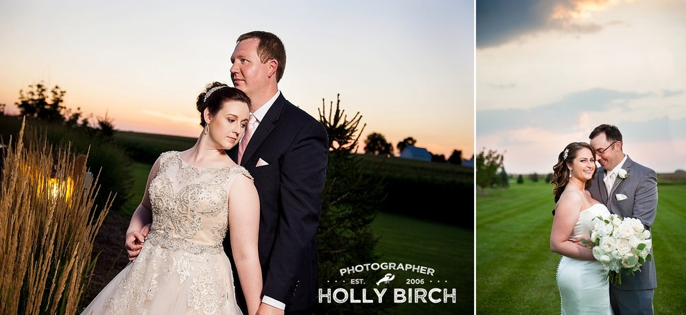sunset wedding day at Pear Tree Estate