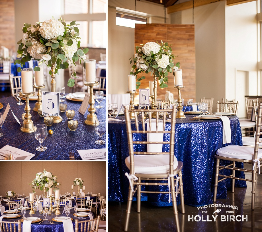 gold white tall floral centerpieces
