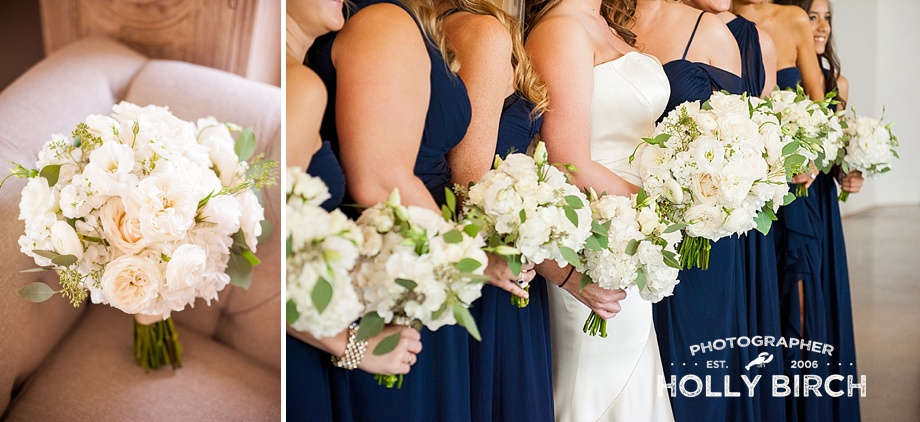 white ivory neutral bridesmaid bouquets