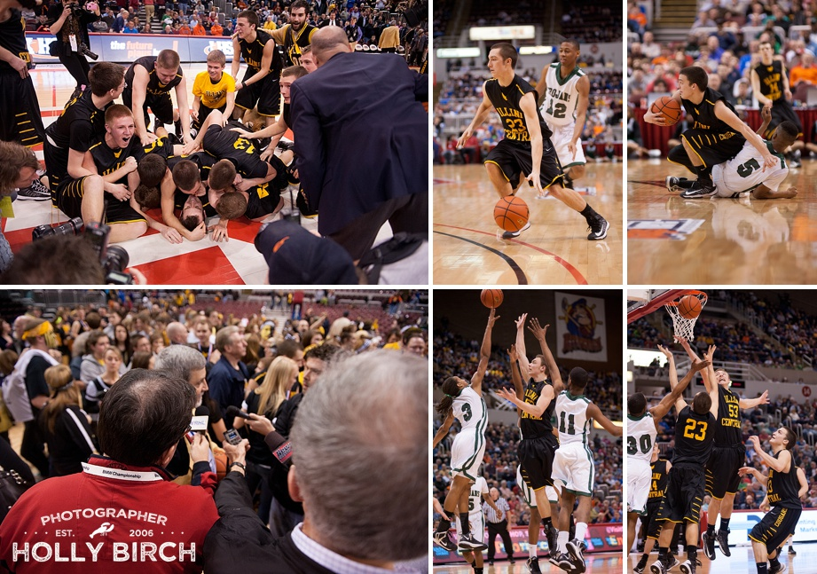 photographing state basketball finals