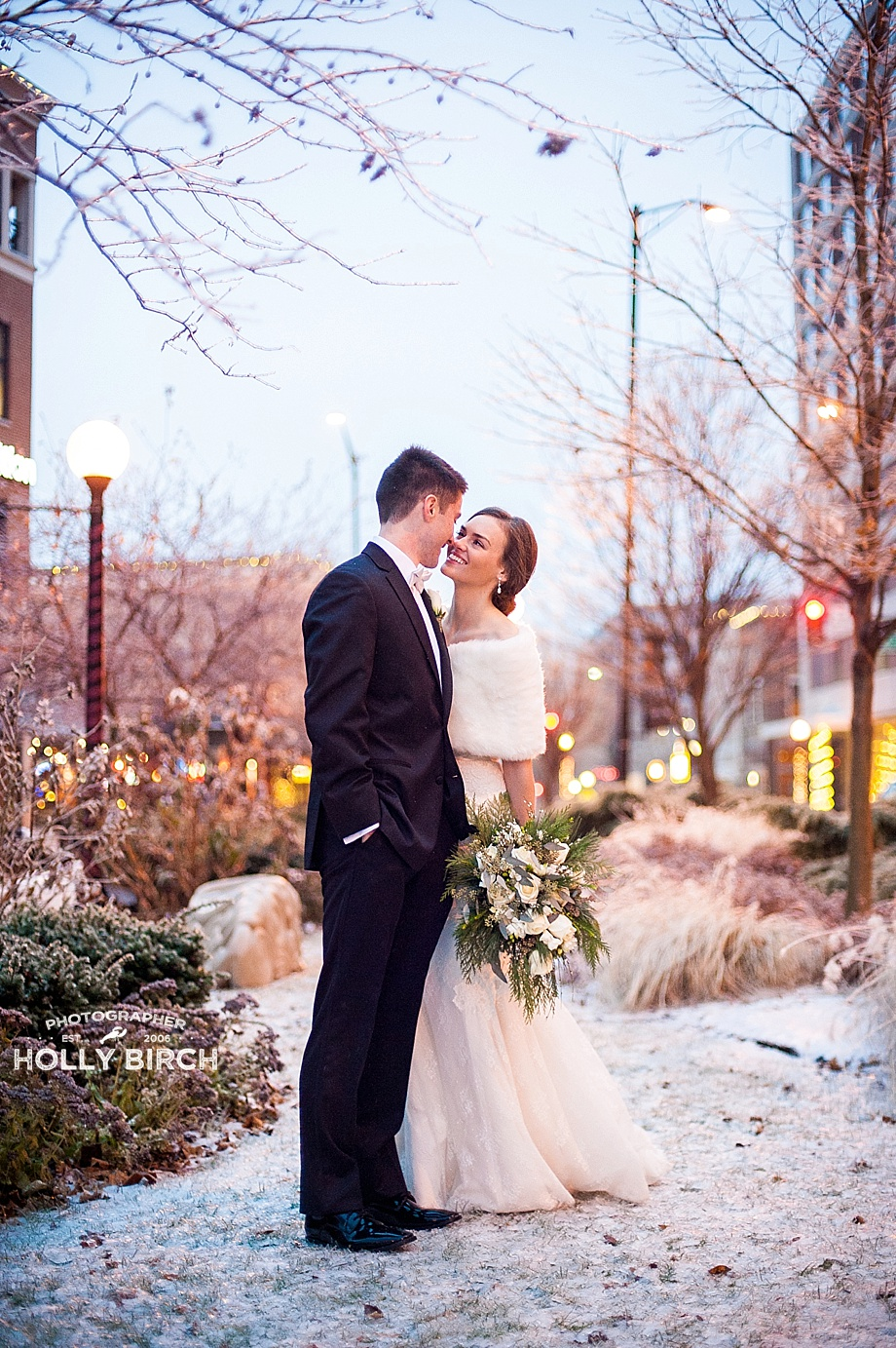 snowy winter wedding pictures