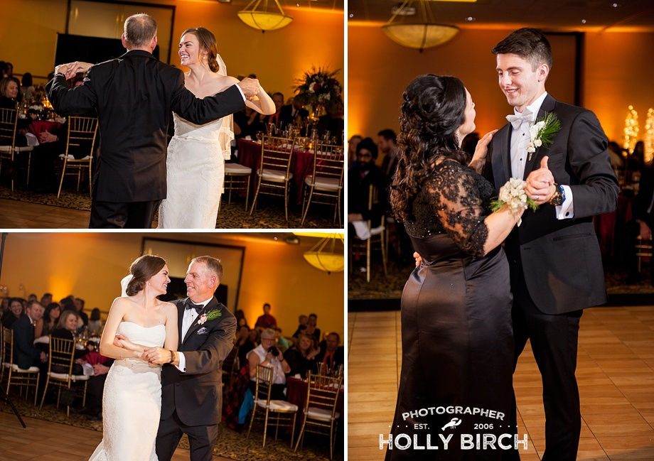 bride and groom parent dances