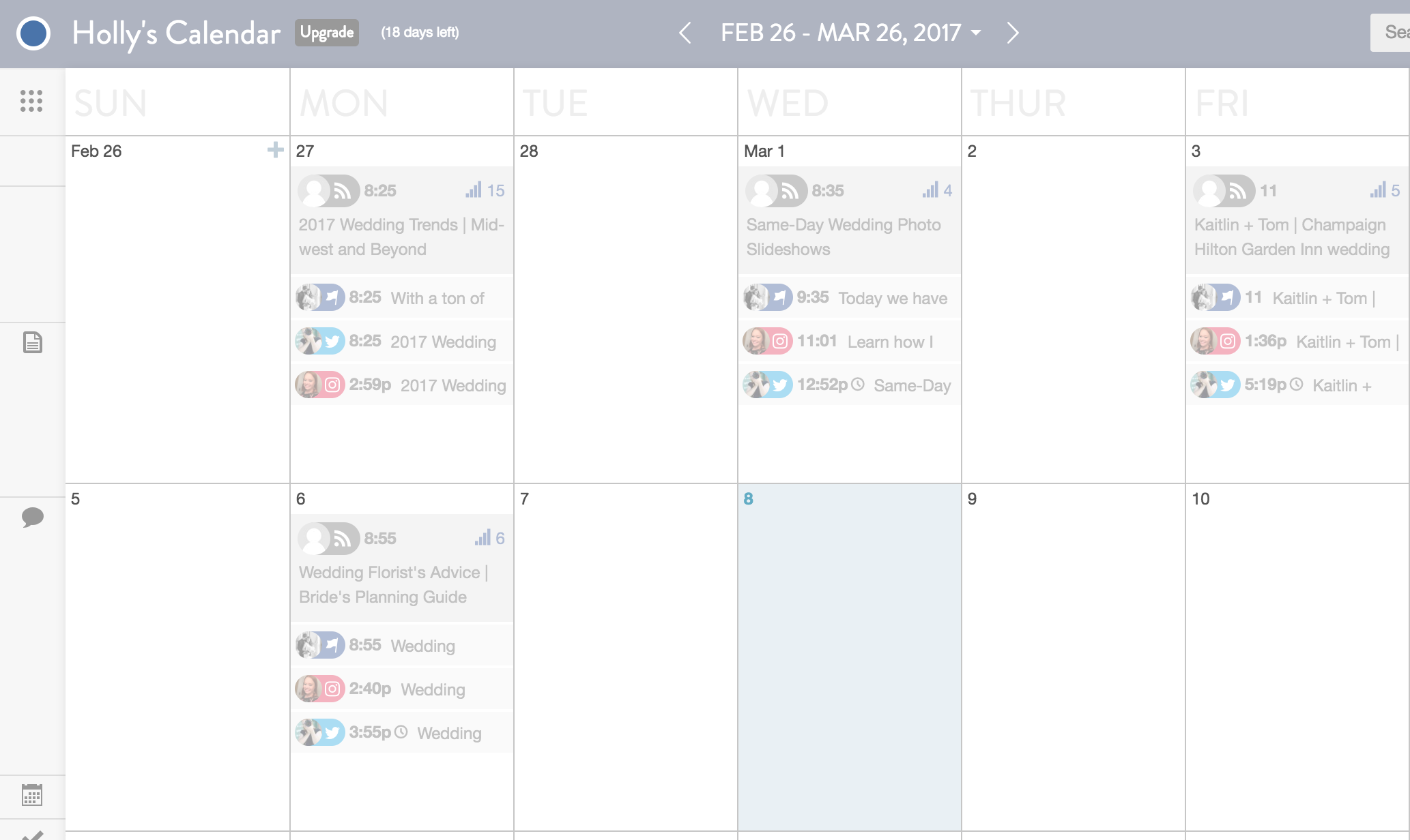 best way to schedule social media