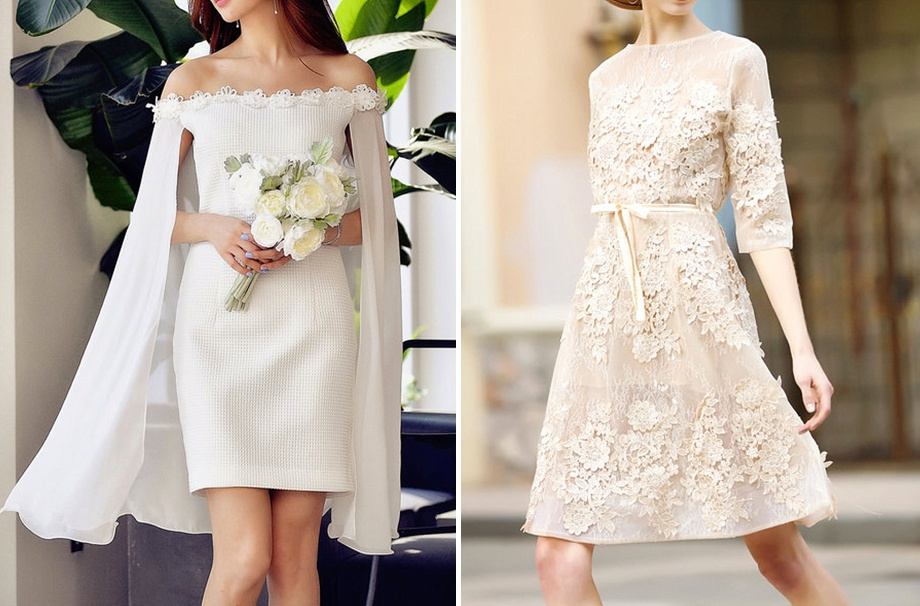 subtle stylish dresses for courthouse wedding elopement