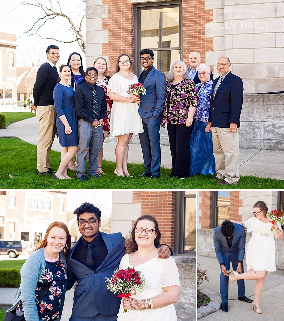 family photos at courthouse wedding