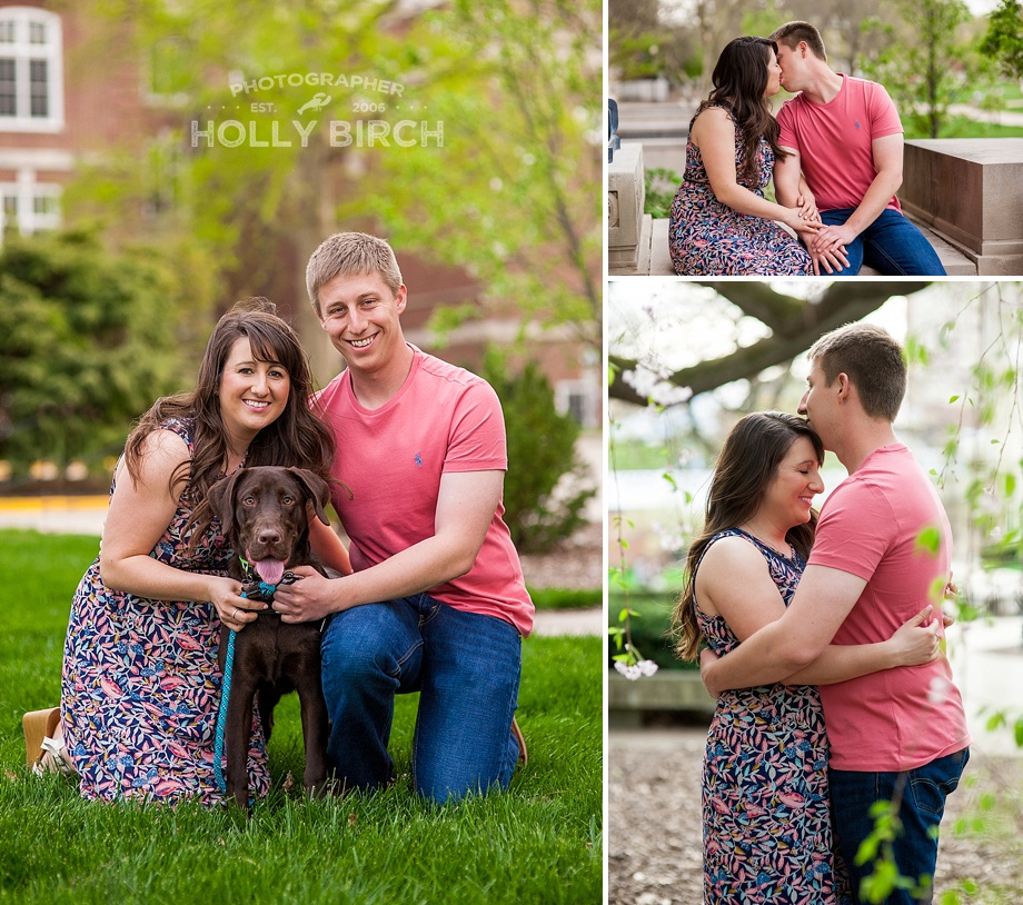 engagement session with couple's puppy
