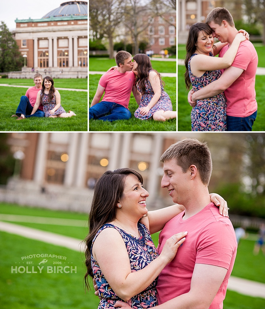 engagement session on the Quad