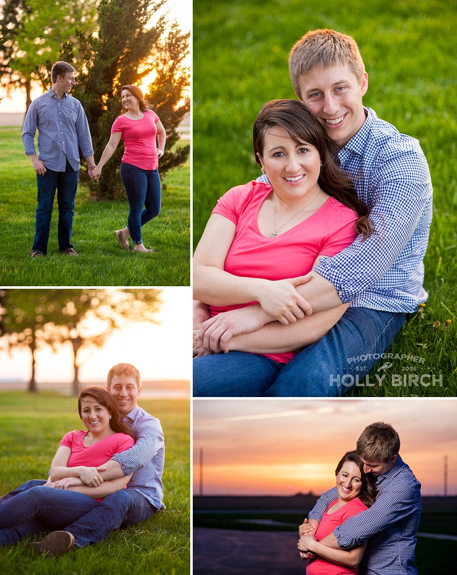sunset golden hour engagement photos