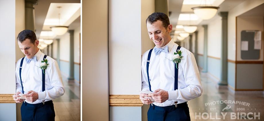 groom memorizing his vows