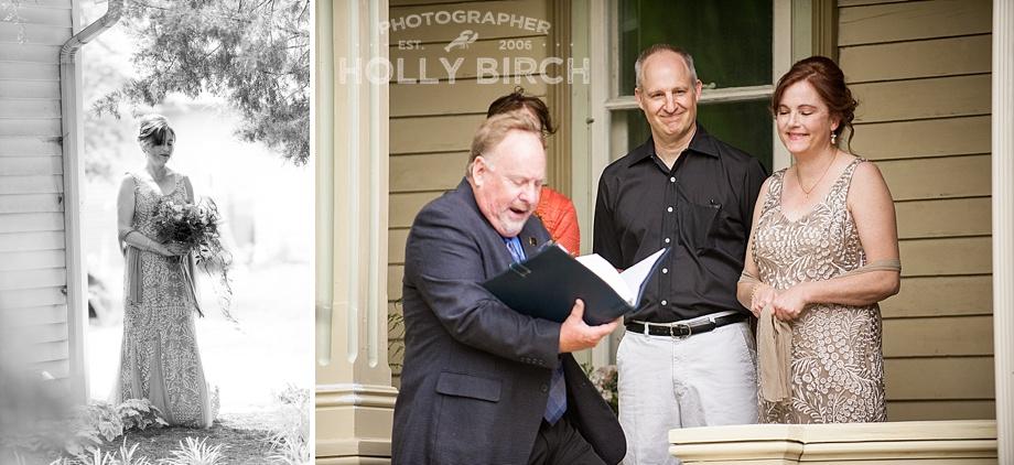ceremony on historic wraparound porch