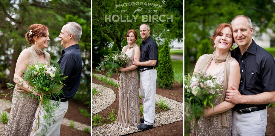 wedding portraits in the garden