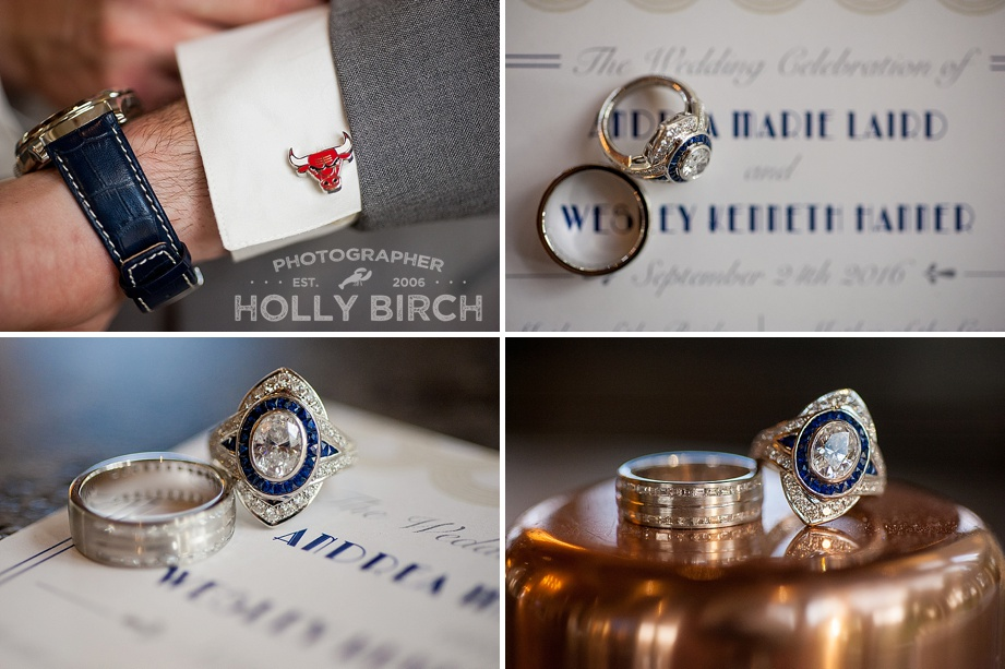 art deco sapphire wedding ring closeup shots