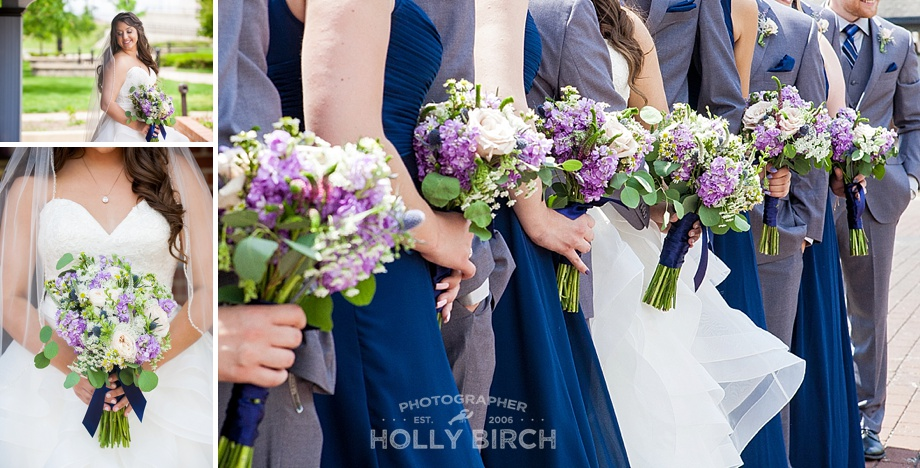 purple white soft floral bouquets