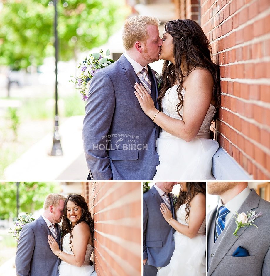 leading lines bricks wedding portraits