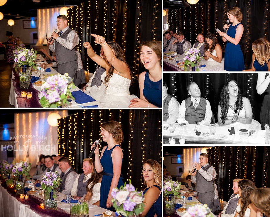 toasts by best man and maid of honor