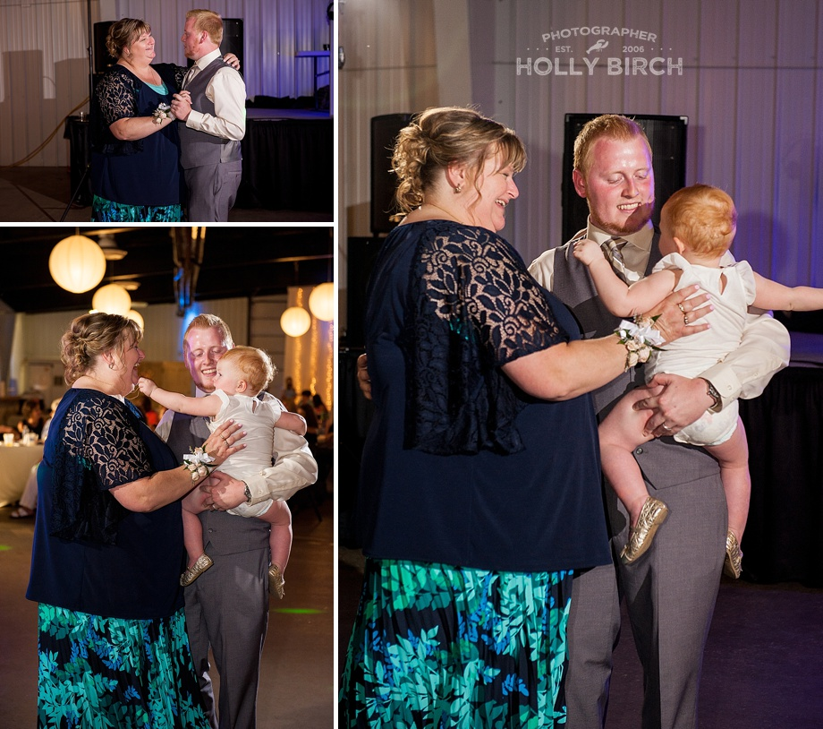 mother son dance with groom's niece