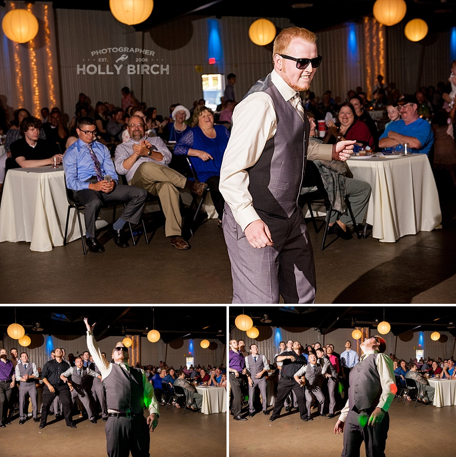 groomsmen garter toss with ocf