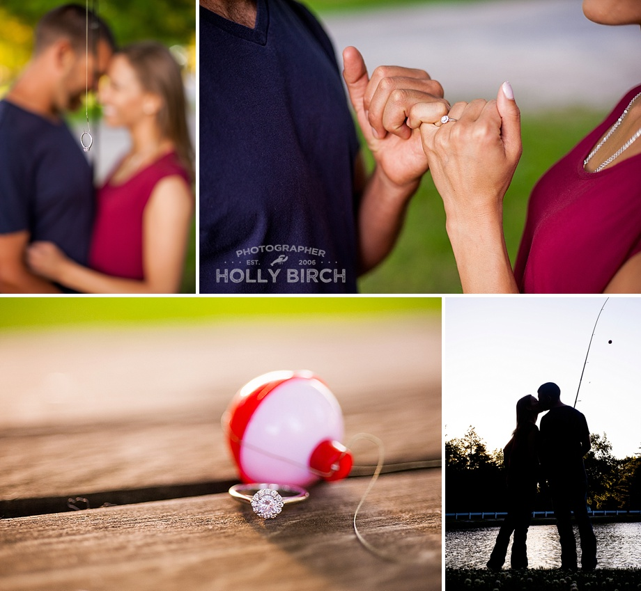 fishing theme engagement pictures