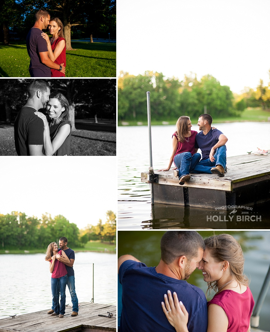 fishing on the dock water engagement pics