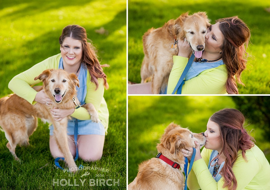 yellow lab dog session with owner